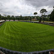 Roma 23/05/2018 Piazza di Siena <br /> Il nuovo campo di gara con il fondo in erba
