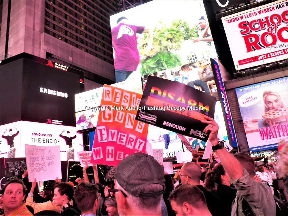 Gays Against Guns organized a solidarity with Las Vegas rally and march today in New York City.  <br /> <br /> The rally took place at Union Square at 6:00pm with about two hundred people attending and was followed by a march though the streets to Time Square and the Red Staircase.<br /> <br /> Gun violence is KILLING US. Gun violence is an EPIDEMIC. Gun violence is a PUBLIC HEALTH CRISIS. <br /> <br /> GUN VIOLENCE IS CURABLE!!!