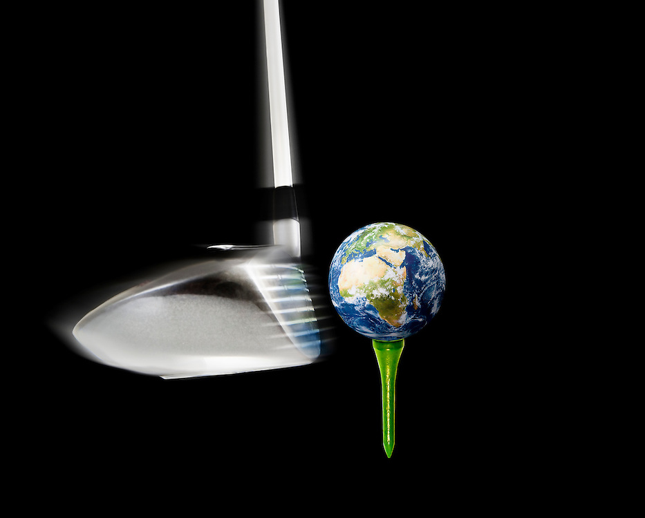 "Taking the phrase ""environmental impact"" literally, the golf club can represent any number of social, political, economic, religious, or cultural factors."