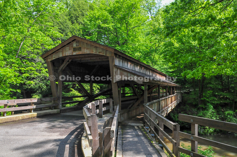 Covered Bridge at Mill Creek Park in Youngstown, Ohio.