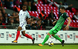 Raheem Sterling of England passes the ball - Mandatory by-line: Robbie Stephenson/JMP - 05/10/2017 - FOOTBALL - Wembley Stadium - London, United Kingdom - England v Slovenia - World Cup qualifier