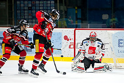 20.11.2015, Ice Rink, Znojmo, CZE, EBEL, HC Orli Znojmo vs HC TWK Innsbruck Die Haie, 22. Runde, im Bild v.l. David Bartos (HC Orli Znojmo) Libor Sulak (HC Orli Znojmo) Andy Chiodo (HC TWK Innsbruck) // during the Erste Bank Icehockey League 22nd round match between HC Orli Znojmo and HC TWK Innsbruck Die Haie at the Ice Rink in Znojmo, Czech Republic on 2015/11/20. EXPA Pictures © 2015, PhotoCredit: EXPA/ Rostislav Pfeffer