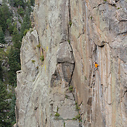 An early morning rock climb to shoot Country Club Crack and Nobody's Home on Castle Rock in Boulder Canyon.