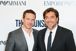 © Licensed to London News Pictures. 03/10/2013, UK. Michael Fassbender; Javier Bardem, The Counselor - special screening, Odeon West End cinema Leicester Square, London UK, 03 October 2013. Photo credit : Richard Goldschmidt/Piqtured/LNP