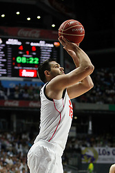 19.06.2015, Madrid, ESP, Liga Endesa, Real Madrid vs Barcelona, Finale, Spiel 1, im Bild Real Madrid&acute;s Felipe Reyes // during the first game of final of Liga Endesa Real Madrid vs Barcelona at Madrid, Spain on 2015/06/19. EXPA Pictures &copy; 2015, PhotoCredit: EXPA/ Alterphotos/ Victor Blanco<br /> <br /> *****ATTENTION - OUT of ESP, SUI*****