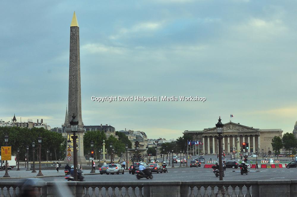 Place de la Concorde, Paris, with Egyptian Luxor Obelisk