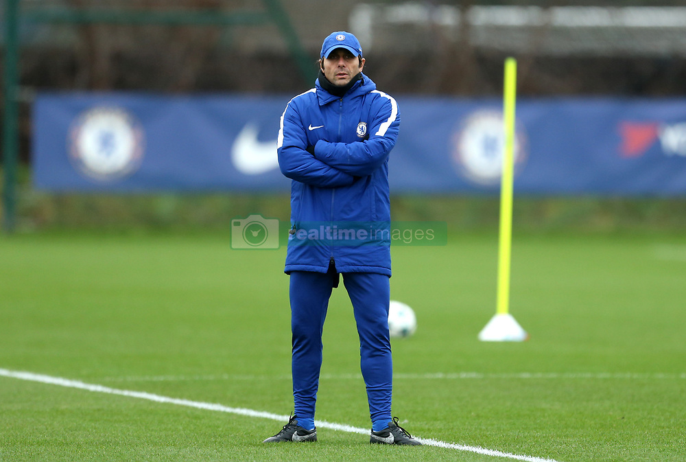 Chelsea manager Antonio Conte during the training session at Cobham Training Centre, Stoke d'Abernon.