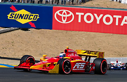 Franck Montagny (25) in the 2009 Sonoma Grand Prix IndyCar race was held at Infineon Raceway in Sonoma, California on August 23, 2009.
