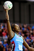 Steel's Jhaniele Fowler against the Mystics in the ANZ netball championship match, Stadium Southland Velodrome, Invercargill, New Zealand, Monday, May 06, 2013. Credit:NINZ/Dianne Manson