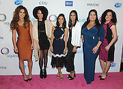 Actress Diane Guerrero, center left, poses with panelists Janet Jones, founder of Vixen Workout, Raquel Sofía, singer and songwriter, Emmelie De La Cruz, personal branding expert, Denise Soler Cox, filmmaker and founder of Project Enye, and Eliana Murillo, Head of Multicultural Marketing at Google, left to right, at P&G's Orgullosa #LivingFabulosa event, Tuesday, Feb. 23, 2016, in New York.  The panel discussed the importance of having more Latina role models to inspire and guide the next generation of Latinas.  (Photo by Diane Bondareff/Invision for P&G Orgullosa/AP Images)