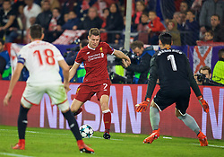 SEVILLE, SPAIN - Tuesday, November 21, 2017: Liverpool's James Milner during the UEFA Champions League Group E match between Sevilla FC and Liverpool FC at the Estadio Ramón Sánchez Pizjuán. (Pic by David Rawcliffe/Propaganda)