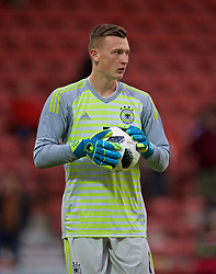 WREXHAM, WALES - Tuesday, September 10, 2019: Germany's goalkeeper Markus Schubert during the UEFA Under-21 Championship Italy 2019 Qualifying Group 9 match between Wales and Germany at the Racecourse Ground. (Pic by David Rawcliffe/Propaganda)