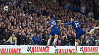 Football - 2018 / 2019 Premier League - Chelsea vs. Liverpool<br /> <br /> David Luiz (Chelsea FC)  and Alvaro Morata (Chelsea FC)  attack the same ball at Stamford Bridge <br /> <br /> COLORSPORT/DANIEL BEARHAM