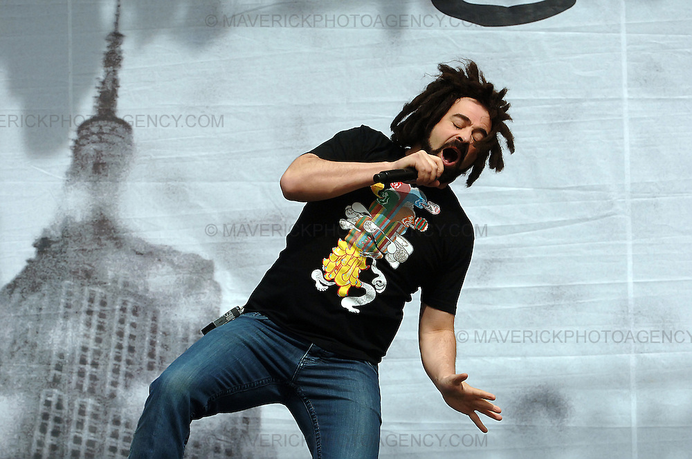 BALADO, KINROSS, SCOTLAND - JULY 13th 2008: Counting Crows perform live at T in the Park 2008.  Pictured singer Adam Duritz.