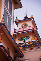 The decorative and colourful Holy See in Tay Ninh.