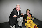 Hugh Pilkington and Mary Moore, Opening of new  Wilkinson gallery. Vyner St. London. E2. Party afterwards at Bistrotheque. 6 September 2007. -DO NOT ARCHIVE-© Copyright Photograph by Dafydd Jones. 248 Clapham Rd. London SW9 0PZ. Tel 0207 820 0771. www.dafjones.com.