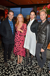 Left to right, GETHIN JONES, SARAH-JANE MEE, KRISTINA BLAHNIK and DEAN PIPER at the OMEGA 100 days to Rio Olympics VIP Dinner at Sushi Samba, Heron Tower, 110 Bishopsgate, City of London on 27th April 2016.