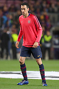 Barcelona midfielder Sergio Busquets (5) during the Champions League quarter-final leg 2 of 2 match between Barcelona and Manchester United at Camp Nou, Barcelona, Spain on 16 April 2019.