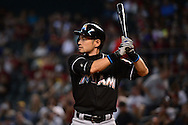 PHOENIX, AZ - JUNE 12:  Ichiro Suzuki #51 of the Miami Marlins reacts at bat against the Arizona Diamondbacks in the ninth inning at Chase Field on June 12, 2016 in Phoenix, Arizona. The Arizona Diamondbacks defeated the Miami Marlins 6-0.  (Photo by Jennifer Stewart/Getty Images)