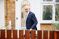 © Licensed to London News Pictures. 05/09/2018. London, UK. Leader of Labour Party JEREMY CORBYN leaves his home in north London on Wednesday, 5 September 2018, the day after Labour's ruling body has agreed to adopt the International Holocaust Remembrance Alliance's definition of antisemitism. Photo credit: Tolga Akmen/LNP