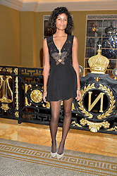 ALUNA FRANCIS at the Lancôme BAFTA Dinner held at The Cafe Royal, Regent's Street, London on 6th February 2015.