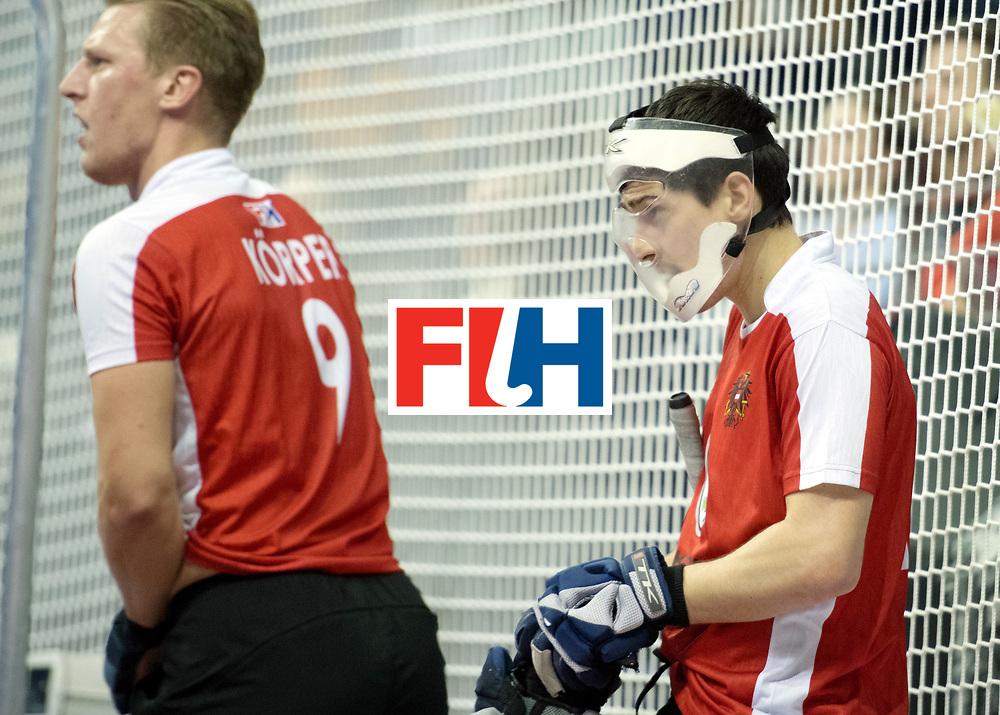 BERLIN - Indoor Hockey World Cup<br /> SF2 Australia - Austria<br /> foto: Face Protection<br /> WORLDSPORTPICS COPYRIGHT FRANK UIJLENBROEK