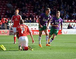Bristol City's Joe Bryan celebrates  - Photo mandatory by-line: Joe Meredith/JMP - Mobile: 07966 386802 - 04/10/2014 - SPORT - Football - Walsall - Bescot Stadium - Walsall v Bristol City - Sky Bet League One