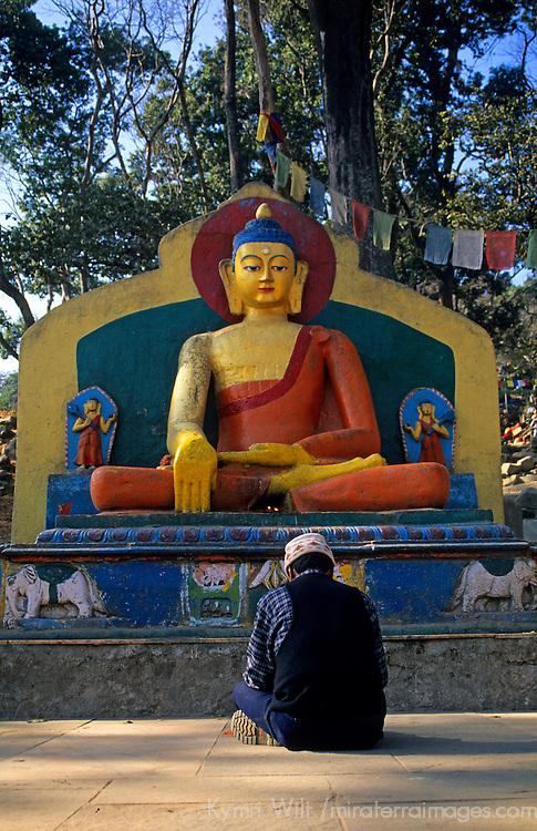 Asia, Nepal, Kathmandu. Swayambhunath Stupa