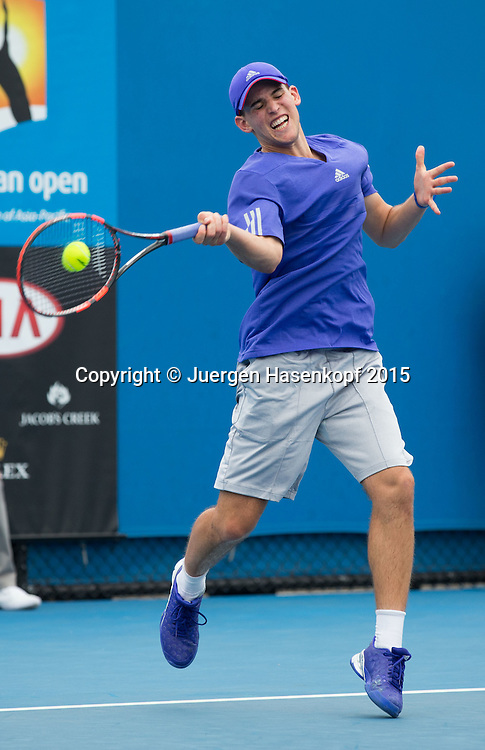 Dominic Thiem (AUT)<br /> <br />  - Australian Open 2015 -  -  Melbourne Park Tennis Centre - Melbourne - Victoria - Australia  - 20 January 2015. <br /> &copy; Juergen Hasenkopf