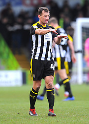 Michael Doyle of Notts County gives orders- Mandatory by-line: Nizaam Jones/JMP- 09/02/2019 - FOOTBALL - New Lawn Stadium- Nailsworth, England - Forest Green Rovers v Notts County - Sky Bet League Two