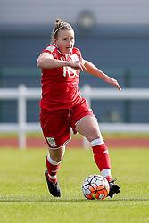 Frankie Fantom-Brown of Bristol City Women in action - Mandatory byline: Rogan Thomson/JMP - 14/02/2016 - FOOTBALL - Stoke Gifford Stadium - Bristol, England - Bristol City Women v Queens Park Rangers Ladies - SSE Women's FA Cup Third Round Proper.