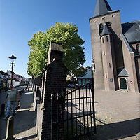Nederland, Amsterdam, 15 oktober 2017.<br />Sloten is een dorp en de naam van een voormalige gemeente in de Nederlandse provincie Noord-Holland. Sloten ligt in het zuidwesten van de stad Amsterdam als onderdeel van het stadsdeel Nieuw-West. Sinds 1962 is er een Dorpsraad Sloten-Oud Osdorp.<br /> Sloten - dat wordt een beschermd dorpsgezicht.<br />Op de foto: de Katholieke kerk van Sloten.<br /><br /><br /><br />Foto: Jean-Pierre Jans