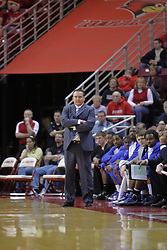 20 February 2010: Donnie Tyndall. The Redbirds of Illinois State bust the Eagles of Morehead State in an ESPN Bracketbuster game 71-62 on Doug Collins Court inside Redbird Arena at Normal Illinois.