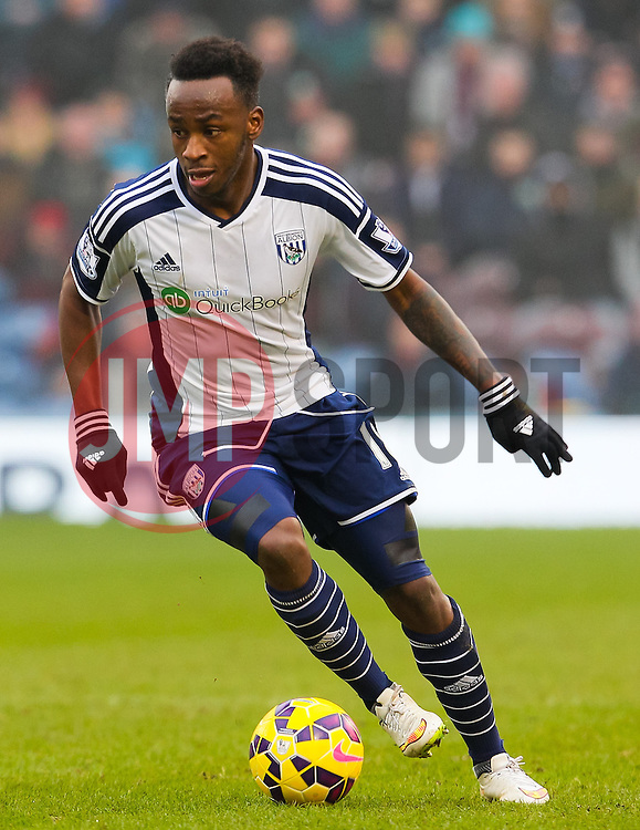West Brom's Saido Berahino in action - Photo mandatory by-line: Matt McNulty/JMP - Mobile: 07966 386802 - 08/02/2015 - SPORT - Football - Burnley - Turf Moor - Burnley v West Brom - Barclays Premier League