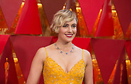 04.03.2018; Hollywood, USA: <br /> GRETA GERWIG<br /> attends the 90th Annual Academy Awards at the Dolby&reg; Theatre in Hollywood.<br /> Mandatory Photo Credit: &copy;AMPAS/Newspix International<br /> <br /> IMMEDIATE CONFIRMATION OF USAGE REQUIRED:<br /> Newspix International, 31 Chinnery Hill, Bishop's Stortford, ENGLAND CM23 3PS<br /> Tel:+441279 324672  ; Fax: +441279656877<br /> Mobile:  07775681153<br /> e-mail: info@newspixinternational.co.uk<br /> Usage Implies Acceptance of Our Terms &amp; Conditions<br /> Please refer to usage terms. All Fees Payable To Newspix International
