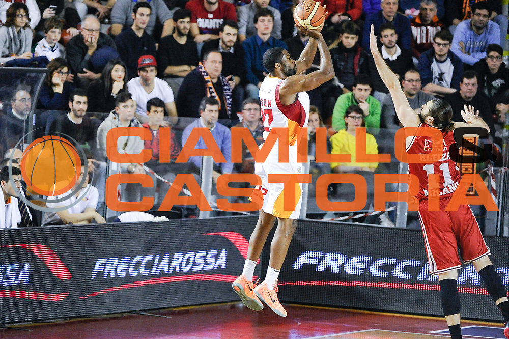 DESCRIZIONE : Roma Lega A 2014-15 <br /> Acea Roma EA7 Milano<br /> GIOCATORE : Gibson Kyle<br /> CATEGORIA : Controcampo Tiro Tre Punti <br /> SQUADRA : Acea Roma<br /> EVENTO : Lega A 2014-15 <br /> GARA : Acea Roma EA7 Milano<br /> DATA : 21/12/2014<br /> SPORT : Pallacanestro<br /> AUTORE : Agenzia Ciamillo-Castoria/giuliociamillo<br /> Galleria : Lega Basket A 2014-2015<br /> Fotonotizia : <br /> Predefinita :
