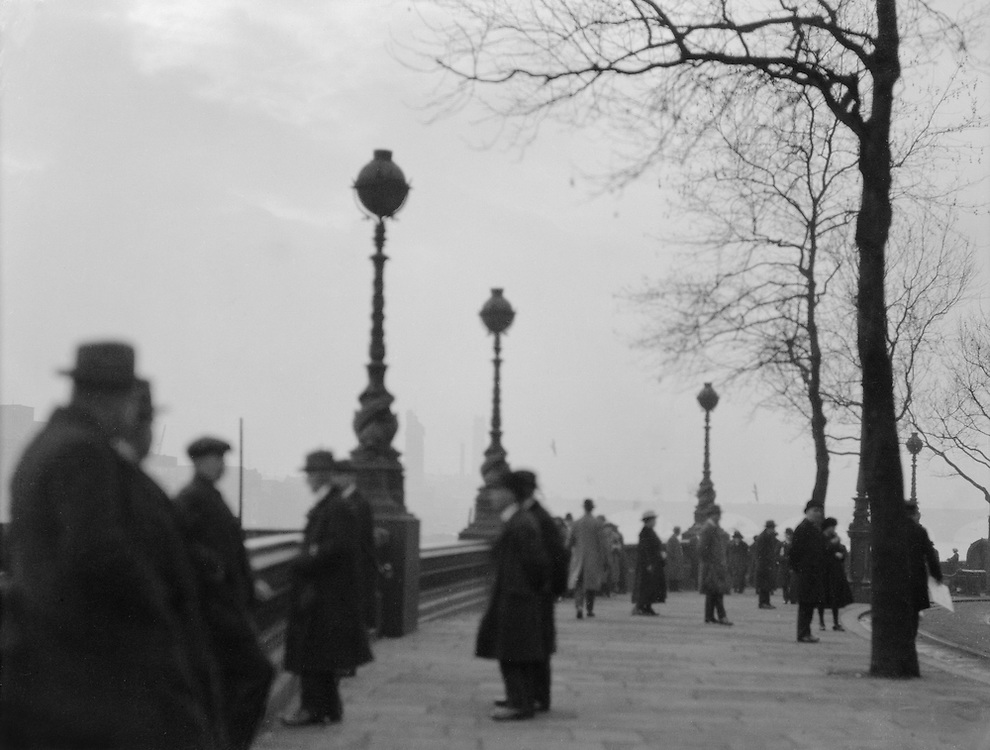 Embankment with People, London, 1910