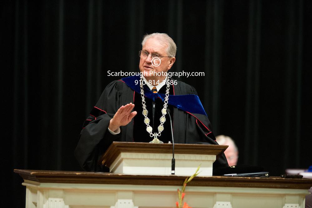May 9th, 2014 Buies Creek NC, Campbell University Divinity graduation ceremony at Turner Auditorium in Buies Creek.