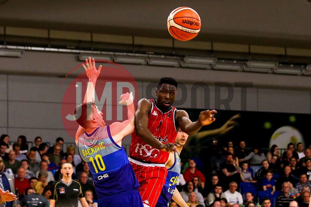 Daniel Edozie of Bristol Flyers - Photo mandatory by-line: Robbie Stephenson/JMP - 29/03/2019 - BASKETBALL - English Institute of Sport - Sheffield, England - Sheffield Sharks v Bristol Flyers - British Basketball League Championship