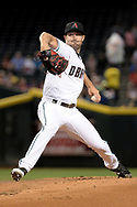 Apr 28, 2017; Phoenix, AZ, USA; Arizona Diamondbacks starting pitcher Robbie Ray (38) delivers a pitch in the first inning against the Colorado Rockies at Chase Field. Mandatory Credit: Jennifer Stewart-USA TODAY Sports