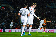 Leeds United forward Patrick Bamford (9) reacts during the EFL Sky Bet Championship match between Leeds United and Hull City at Elland Road, Leeds, England on 10 December 2019.
