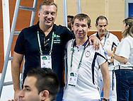 Alexey Vlasenko TDC Vice Chairman and Anatoliy Golovan techinal official<br /> FINA/NVC Diving World Series 2016 Dubai<br /> Hamdan Sport Complex -Dubai United Arab Emirates U.A.E. UAE<br /> March 17 -19 2016<br /> Day 2 March 17th<br /> Photo G.Scala/Insidefoto/Deepbluemedia