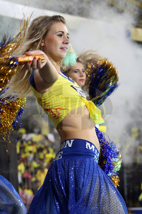 CSK dancers during match 46 of the the Indian Premier League ( IPL) 2012  between The Chennai Superkings and the Deccan Chargers held at the M. A. Chidambaram Stadium, Chennai on the 4th May 2012..Photo by Jacques Rossouw/IPL/SPORTZPICS