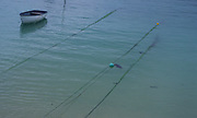 AF4WY7 Anchor ropes and dinghy St Ives Cornwall England