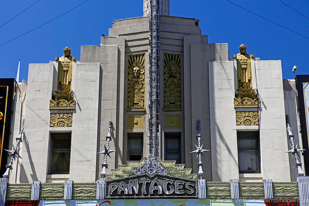 USA, California, Los Angeles. Pantages Theatre in Hollywood.