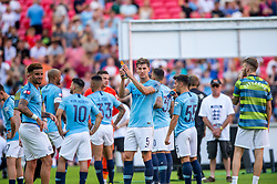 August 5, 2018 - John Stones of Manchester City celebrates during the 2018 FA Community Shield match between Chelsea and Manchester City at Wembley Stadium, London, England on 5 August 2018. (Credit Image: © AFP7 via ZUMA Wire)