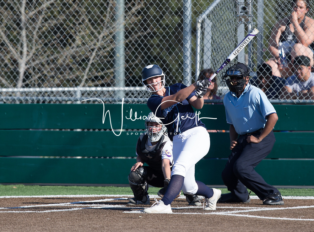(Photograph by Bill Gerth/ for SVCN/ 3/14/17) Branham vs Monta Vista in a pre season girls varsity softball game at Monta Vista High School, Cupertino CA on 3/14/17. (Monta Vista 7 Branham 3)