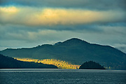 Storm light and mountains at Skidegate<br />