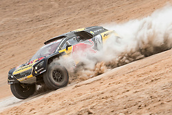 Sebastien Loeb (FRA) of PH Sport races during stage 04 of Rally Dakar 2019 from Arequipa to o Tacna, Peru on January 10, 2019 // Marcelo Maragni/Red Bull Content Pool // AP-1Y39E9URN1W11 // Usage for editorial use only // Please go to www.redbullcontentpool.com for further information. //