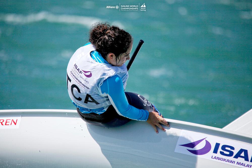 Turks and Caicos IslandsLaser RadialWomenHelmCANDD17DaniellaDouglas<br />Day1, 2015 Youth Sailing World Championships,<br />Langkawi, Malaysia